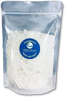 White Ocean Sea Salt Coarse For Grinder Refill - Gourmet Unrefined Rocks For Kitchen - Unprocessed Organic & Unionized Grains For Cooking – All Natural Caribbean Sea Salt (16 Oz)