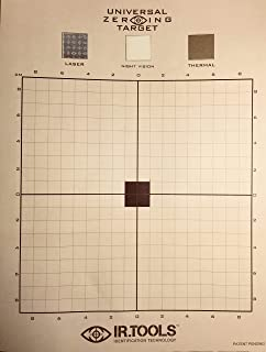 The ZEROING Targets - Universal – for All Firearm Optics/Sights (IR, Thermal, and Laser) Built on Built on Rite in The Rain Paper. Pack of 12