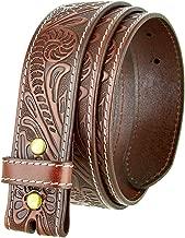 Genuine Full Grain Western Floral Engraved Tooled Leather Belt Strap 1-1/2