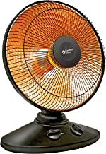 Comfort Zone CZ998 Electric Oscillating Radiant Dish Heater with Adjustable Tilt, Black