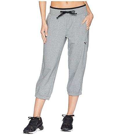 PUMA Sweat Capri (Medium Gray Heather) Women