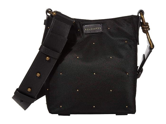 AllSaints  Nilo Stud Small North/South Tote (Black) Handbags