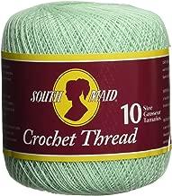 Coats Crochet South Maid Crochet, Cotton Thread Size 10, Mint Green