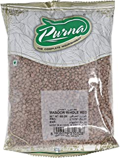 Purna Whole Red Masoor Dal - 500 gm