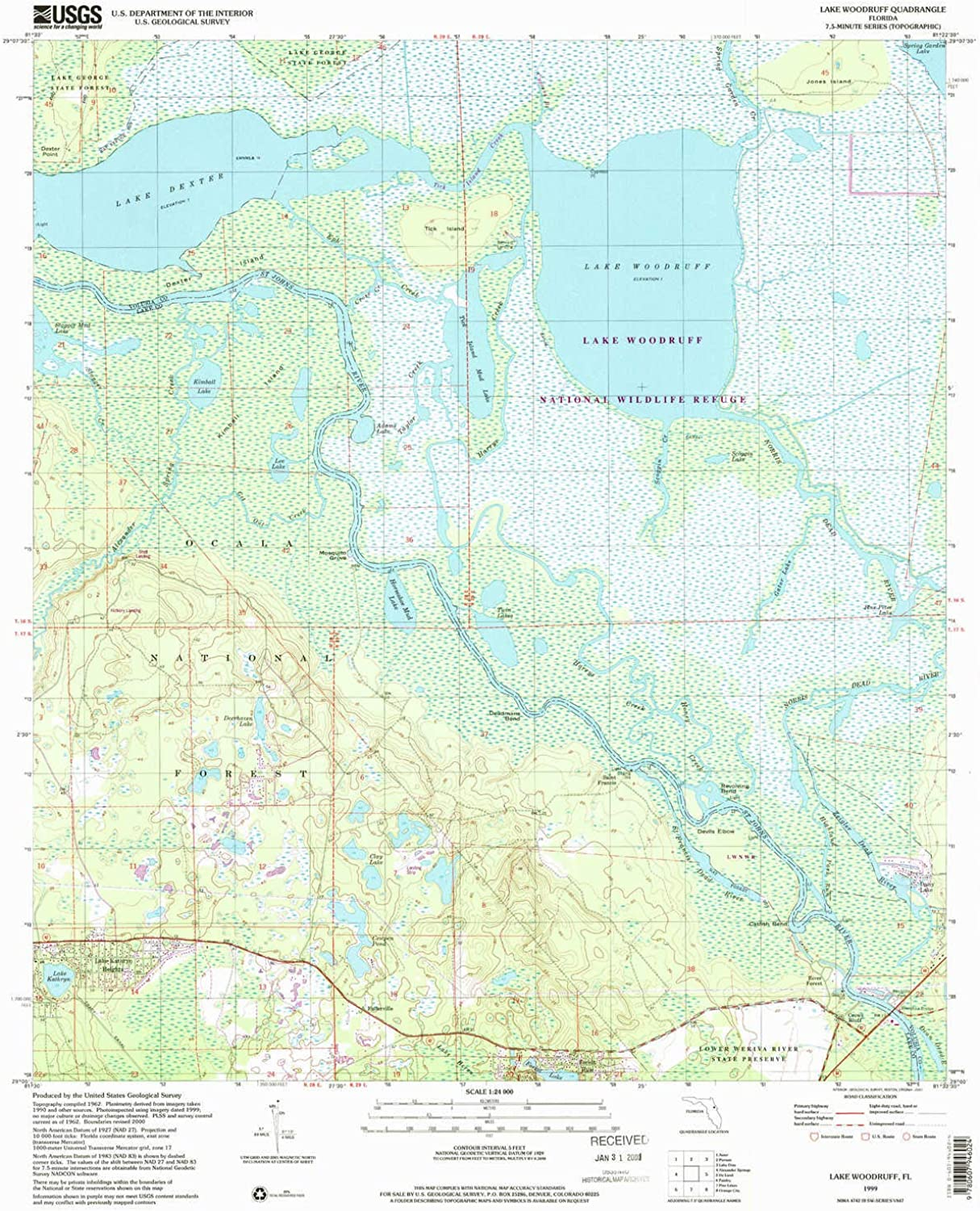 Woodruff FL topo map, 1 24000 Scale, 7 5 X 7 5 Minute, Historical