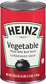 Heinz Vegetable Beef Stock Soup (3 lbs Can, Pack of 12)