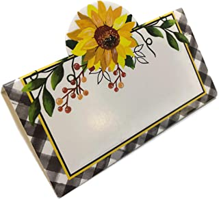 NH Autumn Themed Thanksgiving Dining Place Cards - Pack of 20 (Yellow Flower)