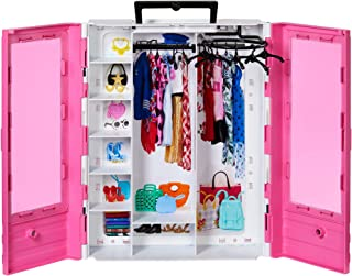 ?Barbie Fashionistas Ultimate Closet Portable Fashion Toy for 3 to 8 Year Olds