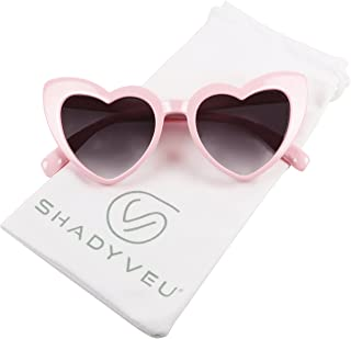 ShadyVEU - Trendy Kids Heart Shaped Love Colorful Girls Toddlers Ages 2-6 Yrs. Oversize Sunglasses