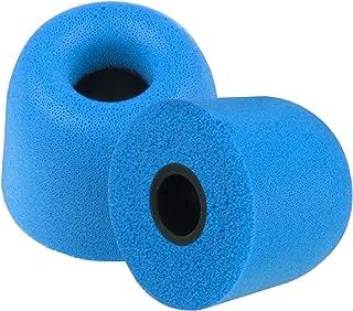 Xcessor FX4.5 (M) 4 Pairs of Memory Foam in Ear Earphone Medium Size Earbuds. Ear Tips for All Popular in-Ear Headphones. Blue