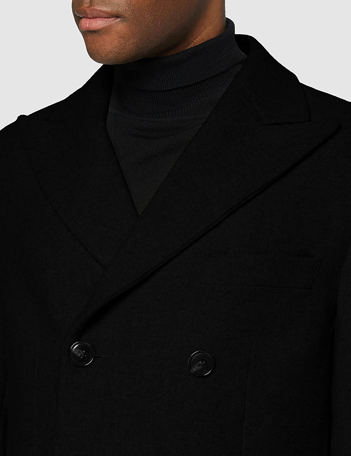 find. Men's Double Breasted Wool Mix Overcoat