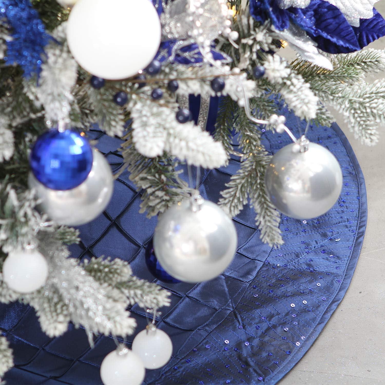 Portables Les Ornements festifs Parfaits pour d/écoration Sapin No/ël r/éutilisables Sea Team Le Coffret-Cadeau Contenant 87 pi/èces Mixtes de Boules et d/'Ornements de No/ël incassables et Anti-Chocs