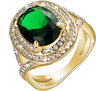 Yoursfs Cocktail Ring Vintage Style Wide Band Statement Ring for Women Prom Dress Jewelry