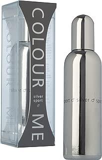 Colour Me | Silver Sport | Eau de Toilette | Fragrance Spray for Men | Woody Aromatic Scent | 3 oz