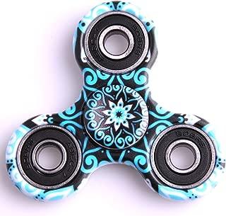 Kirinstores(TM)3D Fidget Spinnerハンドトライアングルフィンガースピナーカラフルなおもちゃ マンダラ (マンダラブラック (Mandalas Black))