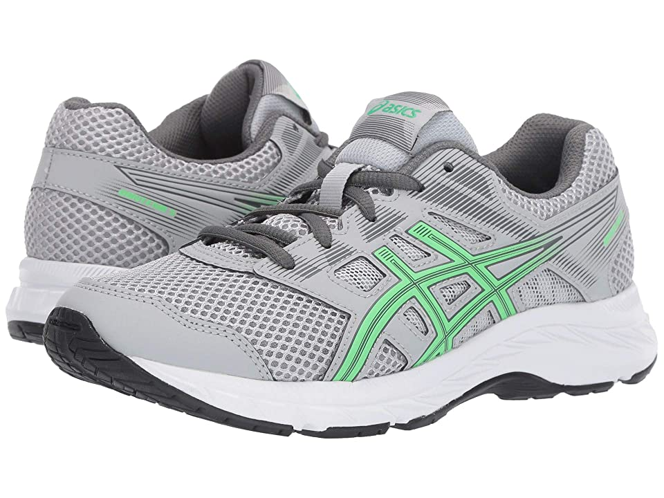 ASICS Kids Gel-Contend 5 GS (Big Kid) (Mid Grey/New Leaf) Boys Shoes
