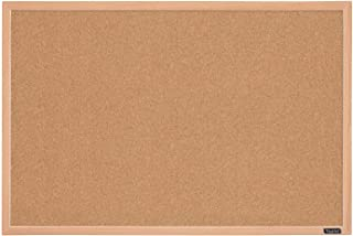 "Quartet Cork Board Bulletin Board, 23"" x 35"" Framed Corkboard, Oak Frame, Decorative Hanging Pin Board, Perfect for Office..."