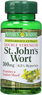 Nature's Bounty St. John's Wort Pills and Herbal Health Supplement, 300mg, 100 Capsules