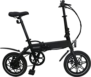 Whirlwind C4 Lightweight 250W Electric Foldable Pedal Assist E-Bike with LG Battery, UK Made - Black