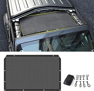 Sunshade Mesh Shade Top Cover Provides Roof UV Sun Protection for Jeep Wrangler JL Rubicon Sahara Sport Sport-S