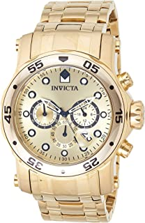 Invicta Mens Quartz Watch, Analog Display and Stainless Steel Strap 23652