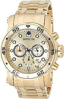 ساعة كوارتز للرجال من انفيكتا، بشاشة عرض انالوج وسوار ستانلس ستيل، 23652