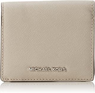 Michael Kors Womens Jet Set Leather Travel Card Case Gray O/S