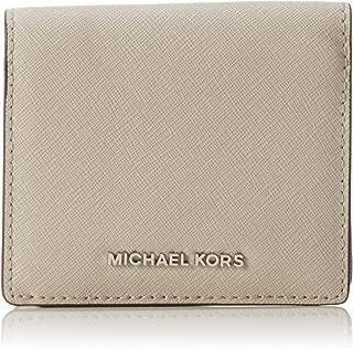 Michael Kors Womens Jet Set Leather Travel Card Case Gray O/S