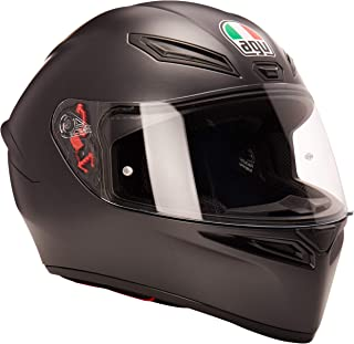 AGV Unisex-Adult Full Face K-1 Motorcycle Helmet (Matte Black, X-Large)