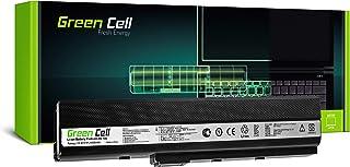Green Cell® Standard Serie A32-K52 Batería para ASUS A52F A52J A52N B53 K42 K52 K52DR K52J K52JK K62 X52 X52D X52F X62 Ordenador (6 Celdas 4400mAh 10.8V Negro)