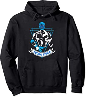 Lucha Libre Mask Mexican Blue Demon Fighter Gift Pullover Hoodie
