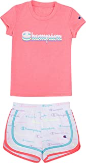 Champion Heritage Little Girls 2-6X Short Sets Mesh and French Terry Shorts