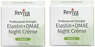 Reviva Labs Elastin + DMAE Night Creme for Firmer Tighter Skin, 1.5 ounce (Pack of 2)