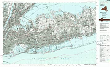 YellowMaps Long Island West NY topo map, 1:100000 Scale, 30 X 60 Minute, Historical, 1984, Updated 1986, 24.1 x 40 in