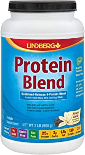 Lindberg Protein Blend - from Whey, Milk and Egg White - Sustained Release 4-Protein Blend - No Artificial Sweeteners or F...