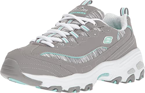 Skechers Femme D Lites Interlude Leather Synthetic Formateurs