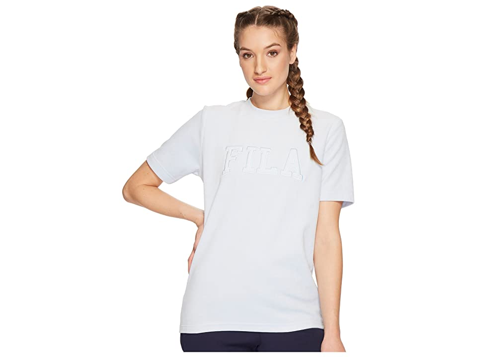 Fila Olivia Velour Tee (Skyway) Women