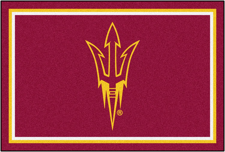 NCAA Arizona State University 5 x 8 Rug, 60  x 92  Small, Black