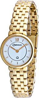 ORPHELIA - mon-7048 - Reloj analógico de Cuarzo para Mujer, Correa de Dorado Color Dorado