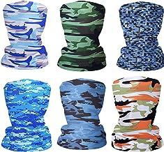 6pcs Magic Scarf Outdoor Headwear Bandana Sports Tube UV Face Mask for Workout Yoga Running Hiking Riding