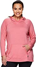 RBX Active Women's Plus Size French Terry Long Sleeve Pullover Hoody