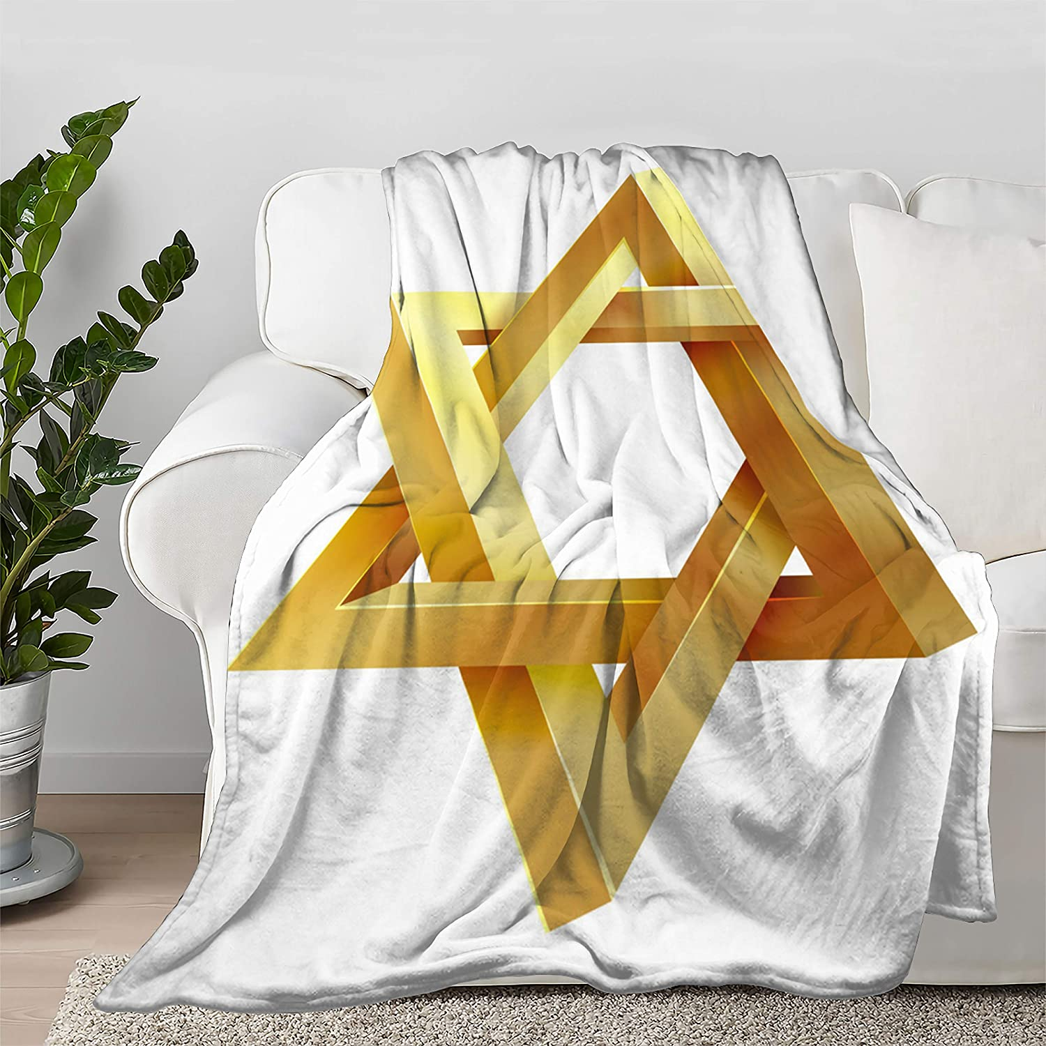Multi-Styles Star of Bargain sale David Flannel Soft fit High order Be Bed Throw Blanket