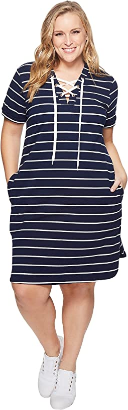 KARI LYN - Plus Size Cassidy Lace-Up Dress