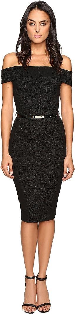 Vindy Bardot Midi Bodycon Dress