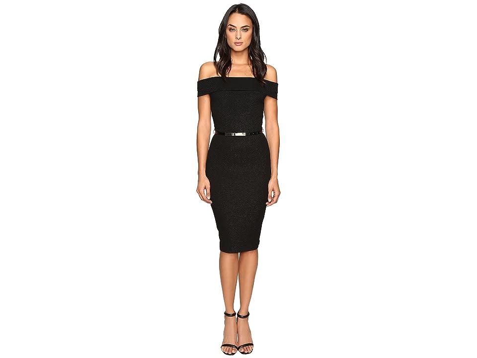 Ted Baker Vindy Bardot Midi Bodycon Dress (Black) Women