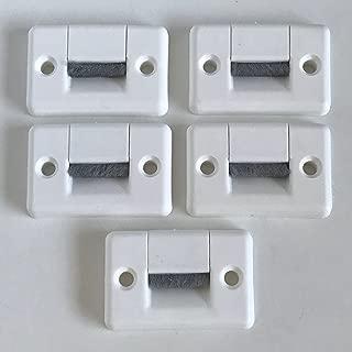 5aplicaciones para correas de gran tamaño de 23mm ancho, con cepillo. Cada aplicación tiene 2piezas. Accesorios para persianas de Bayram®