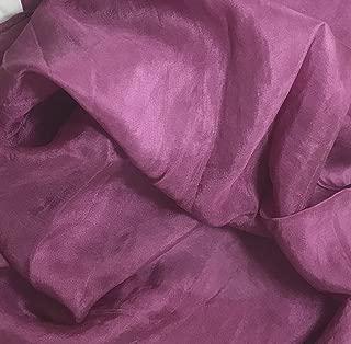 Maroon - Hand Dyed Silk Habotai Fabric