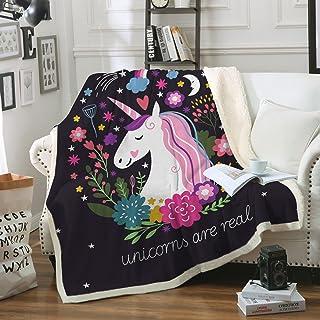 Sleepwish Cute Unicorn Blanket Girls Cartoon Unicorn with...