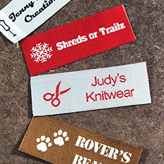 Label Weavers Essential Woven Sew-on Tags for Sewing, Knitting, Crafts and Small Business (50 Labels)