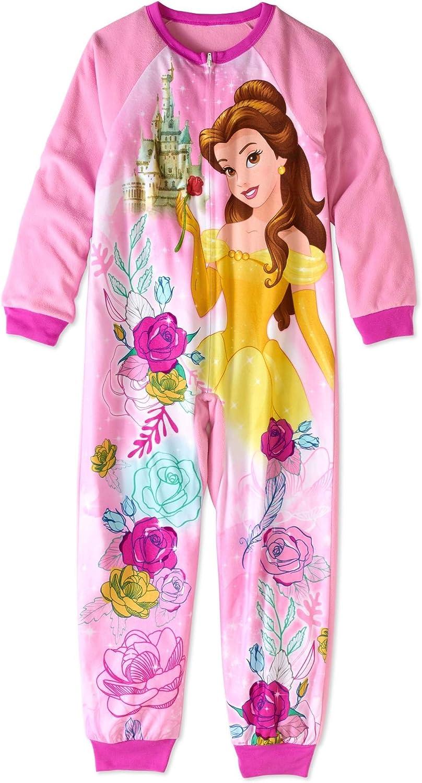 Disney Princess Belle, Magical Castle Floral Size 4/5 Fleece Pajama Sleeper